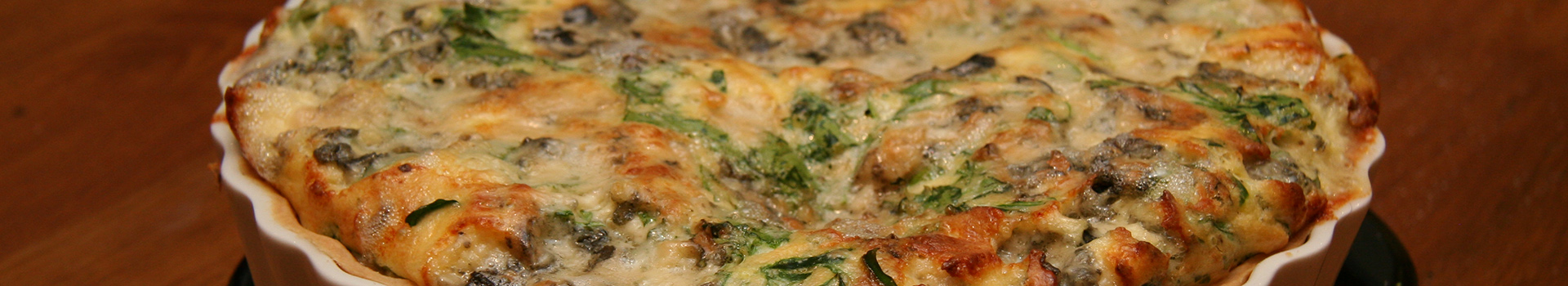 Cheese And Rocket Quiche