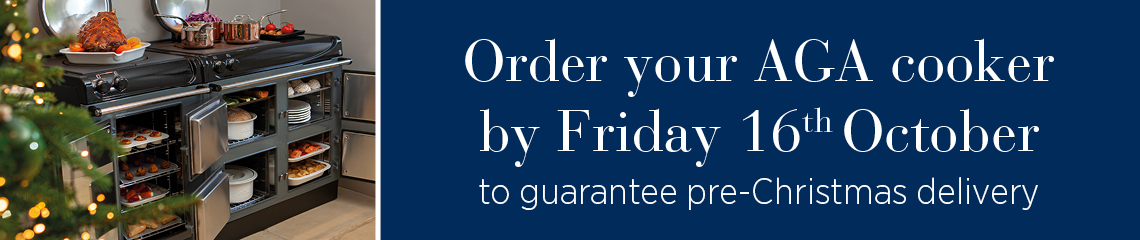 Order your AGA by 16th October for guaranteed Christmas delivery