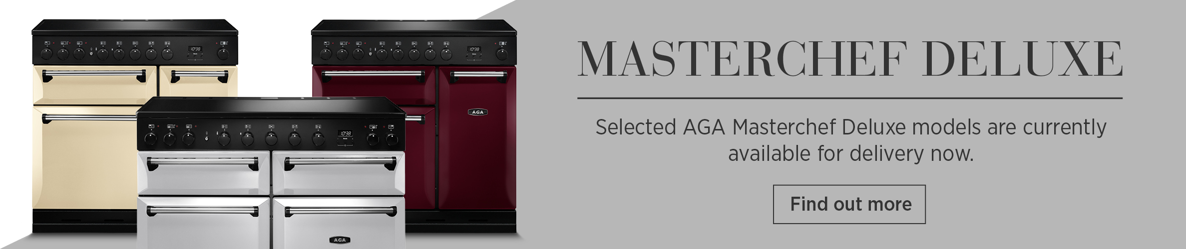 AGA Masterchef Deluxe models available for delivery now