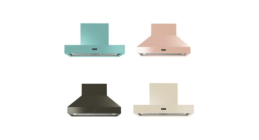 New AGA cooker hoods in a variety of colours