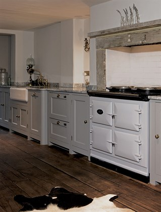 Anna Friel's kitchen and AGA