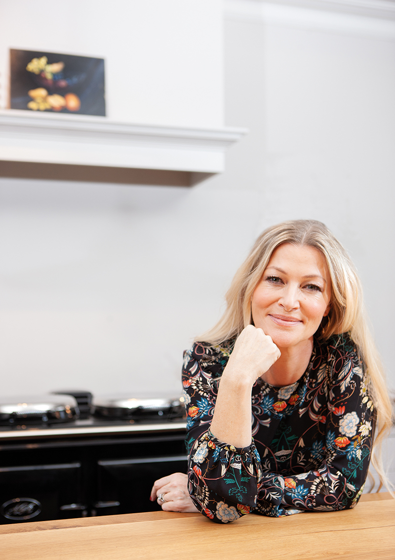 Laura Berkeley-Hawkes with her Black AGA cooker