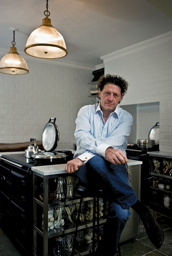Marco Pierre White with his AGA Total Control