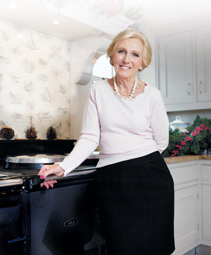 Mary Berry with her AGA