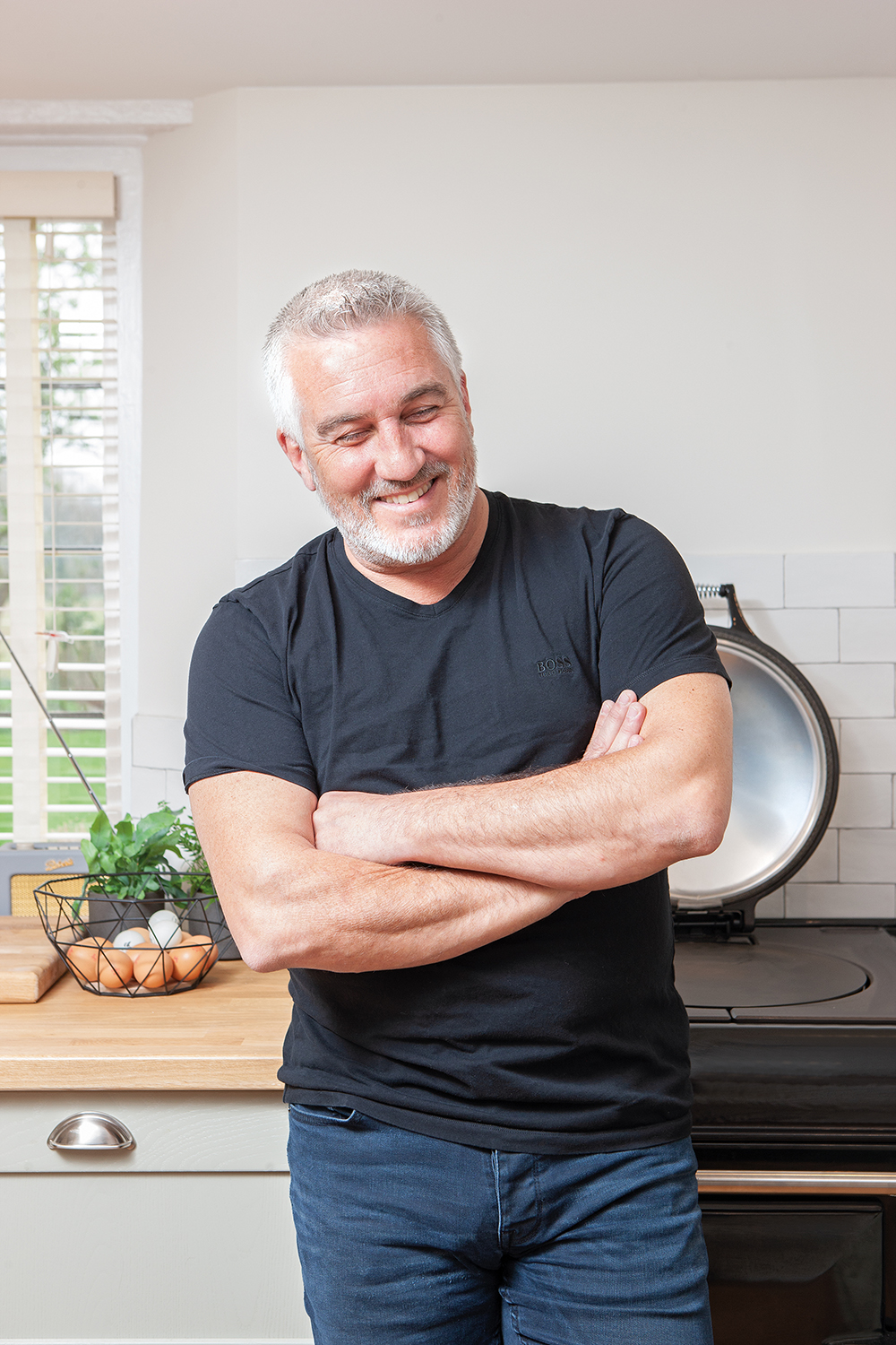 Paul Hollywood with his AGA eR3 Series cooker