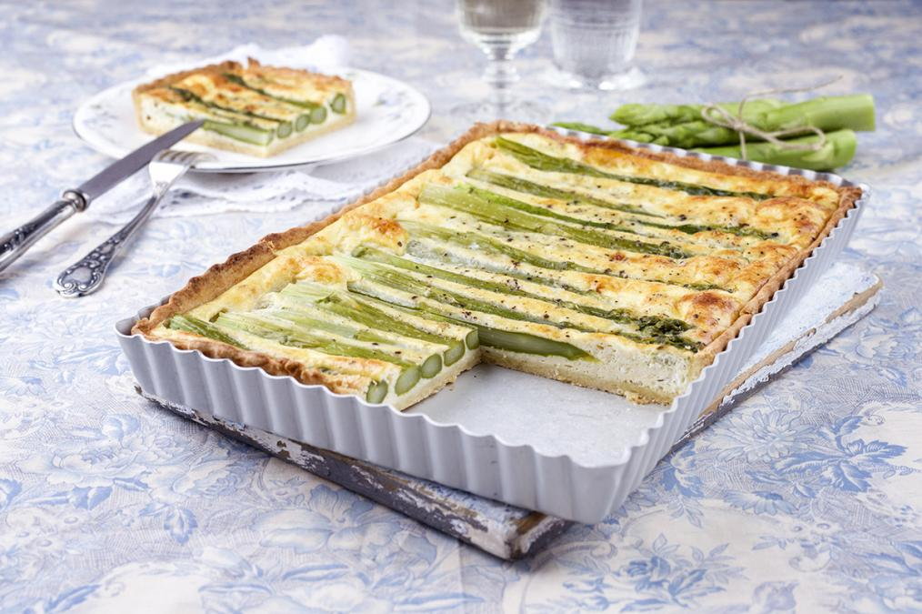 Asparagus and Herb Flan