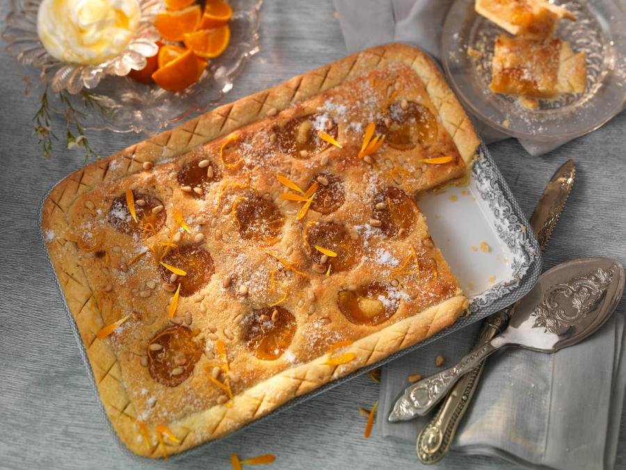 Citrus and Pine Nut Tart