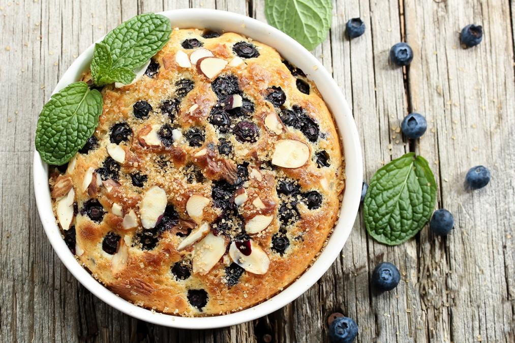 Blueberry and Almond Cake