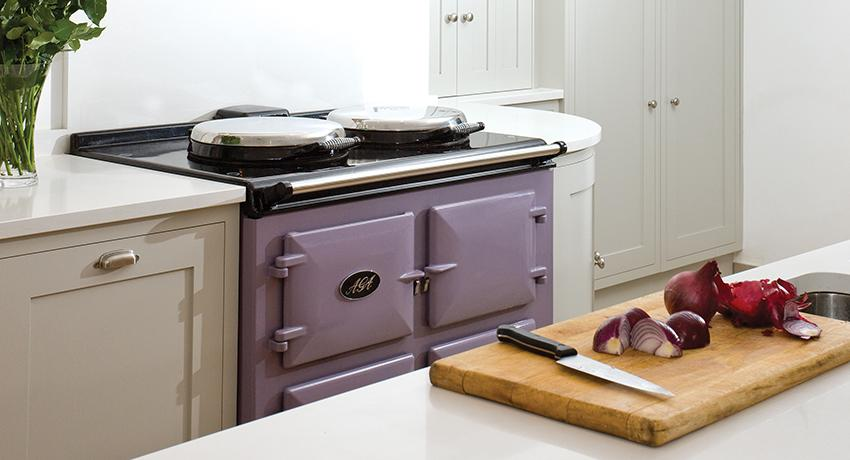 AGA Dual Control 3-oven in Heather