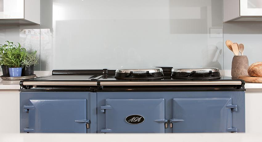 AGA Dual Control 5-oven in Dartmouth Blue