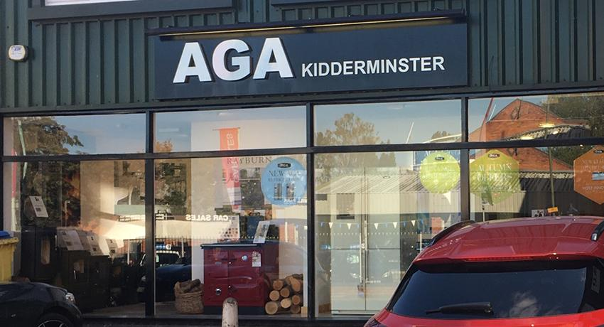 Rayburn Heatcentre at AGA shop Kidderminster