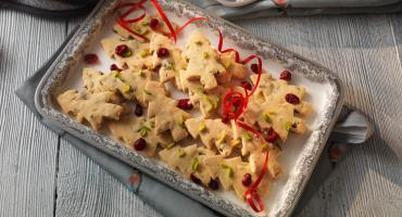 Cranberry and Pistachio Shortbread
