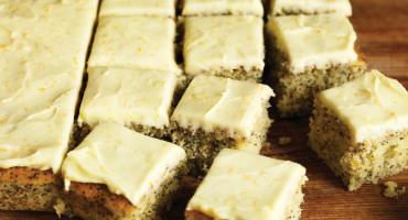 Poppy Seed and Marmalade Traybake