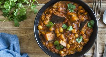 Aubergine, Butternut Squash and Chickpea Curry