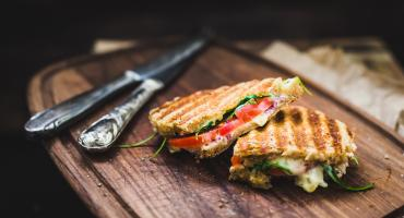 Brie and Tomato Toasted Sandwich