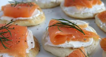 Buckwheat Blinis With Crème Fraiche and Smoked Salmon