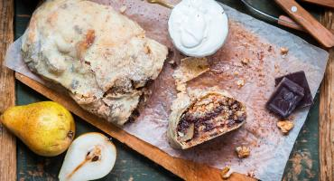 Pear and Chocolate Strudel