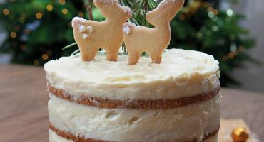 Almond Woodland Cake with Cream Cheese Frosting