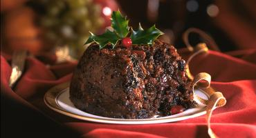 Individual Christmas Plum Pudding