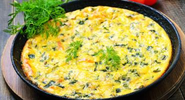 Shropshire Blue Cheese and Vegetable Frittata