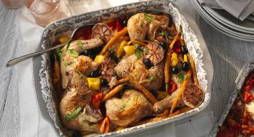 Spanish chicken in the Portmeirion Delamere Roasting Dish