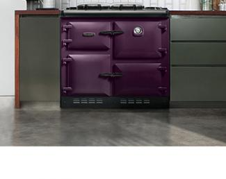 Rayburn cooker in Aubergine