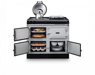 AGA R3 Series model open with food cooking
