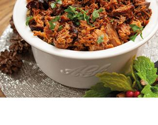 Pulled pork in AGA Casserole dish