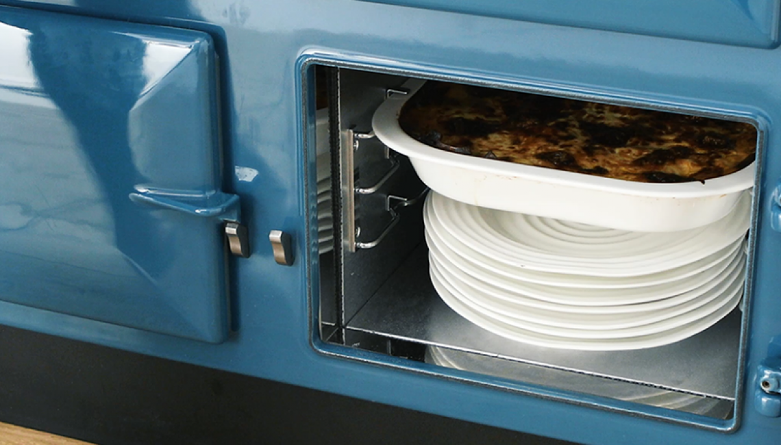 AGA warming oven