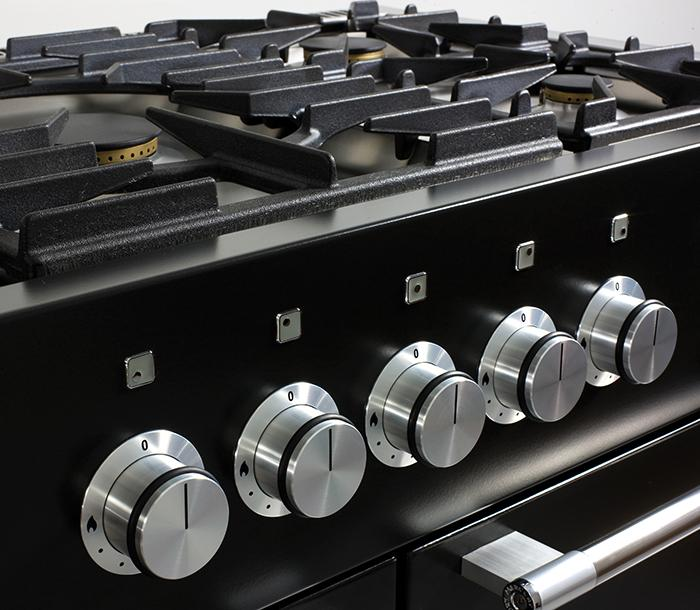 Gas hob top on the Mercury range cooker