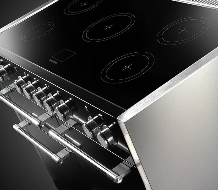 Induction hob top