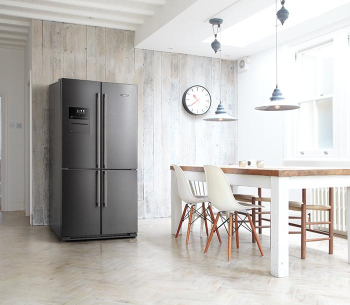 AGA 4 door Deluxe fridge freezer in Dark Inox