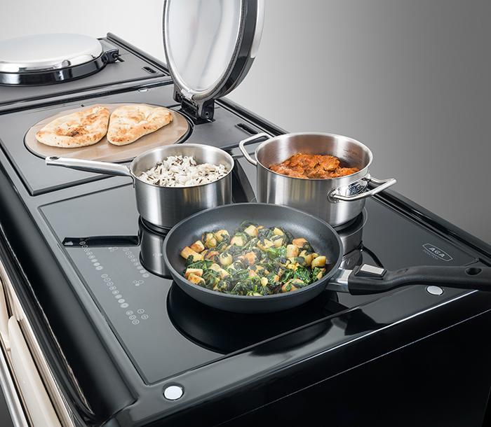 AGA eR3 hob top featuring 3-zone induction hob