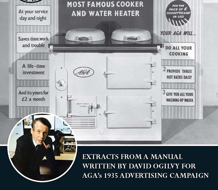 David Ogilvy and black and white AGA image