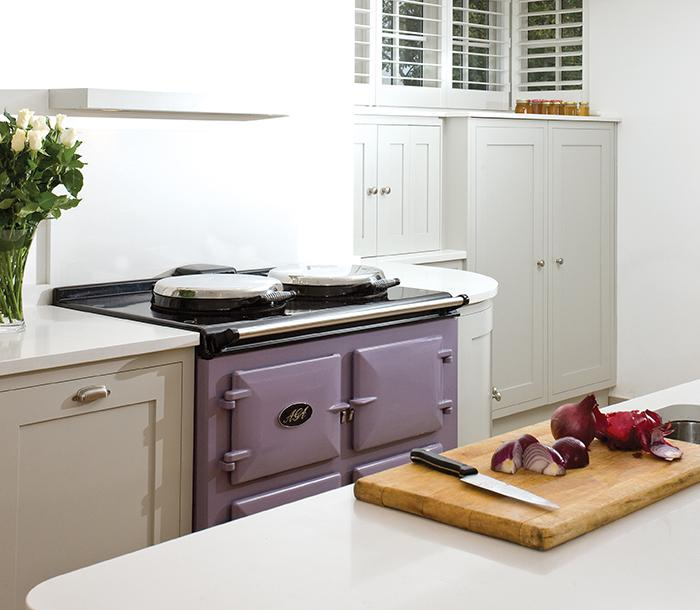 AGA Dual Control in Heather in White Kitchen