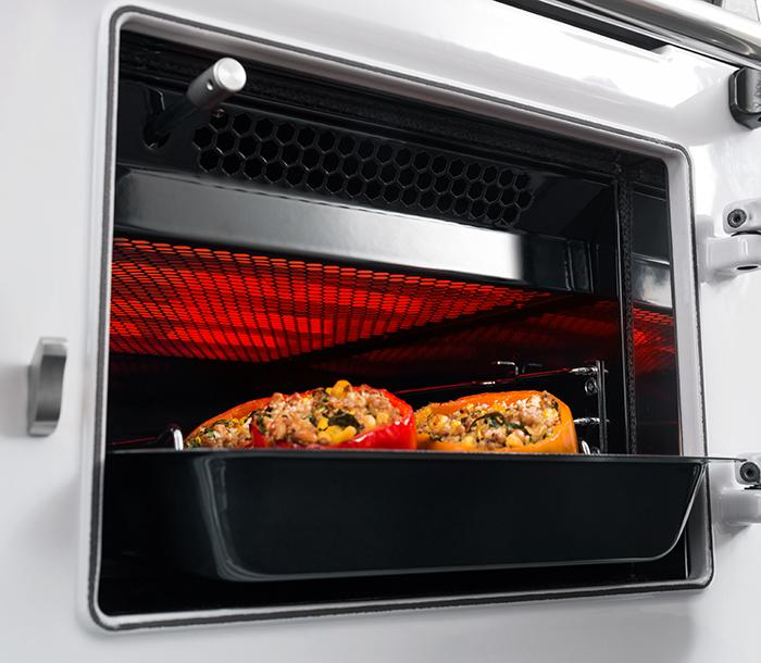 Grill compartment in the AGA R3 Series model