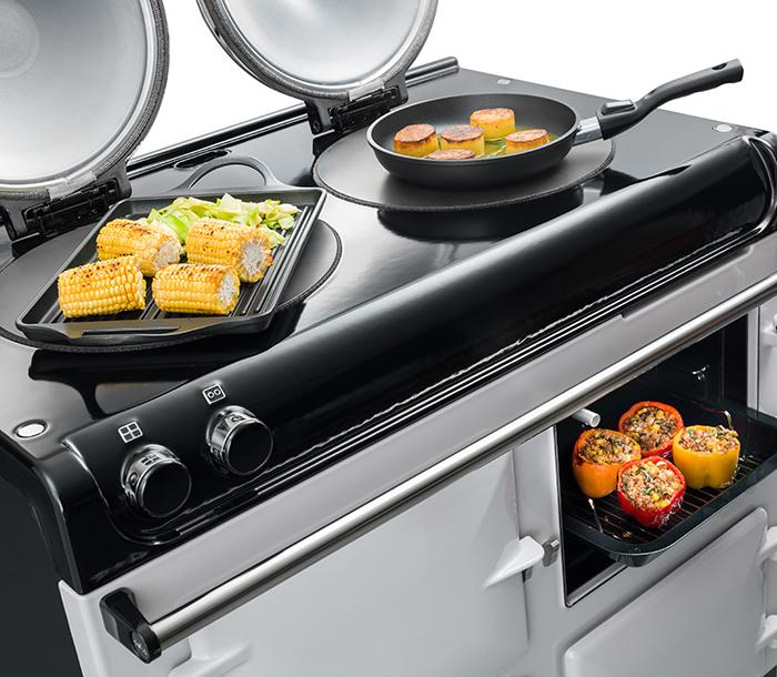 AGA R3 Series hob top with twin hotplates
