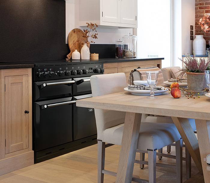 AGA Masterchef Deluxe with induction hob in black
