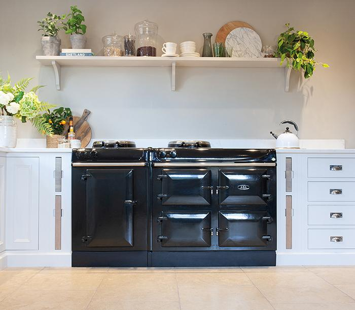 AGA eR3 Series 160 in Pewter in bright kitchen