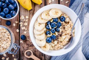Banana and Blueberry Porridge