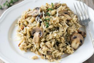Quick and Easy Mushroom Risotto