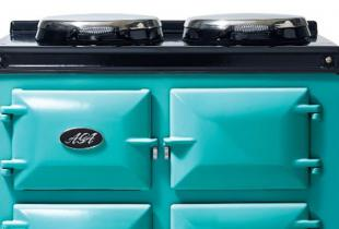 The AGA Dual Control in the Tiffany Blue shade
