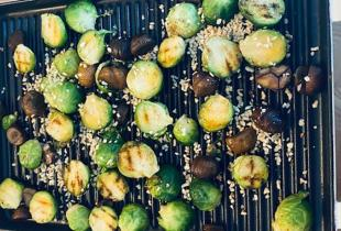 Sprouts with Chestnuts & Toasted Hazelnuts